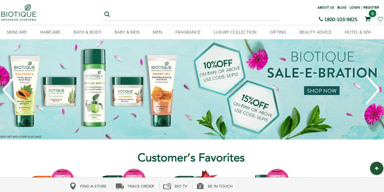 Discount & Offers in Homepage